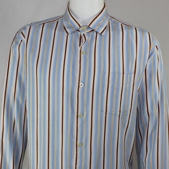 8594a05f3 Tommy Bahama Shirts | Large Ls Button Shirt Striped Silk | Poshmark